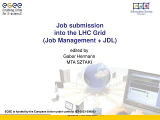 Job submission  into the LHC Grid  ( Job Management  + JDL)