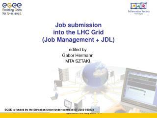 Job submission  into the LHC Grid  ( Job Management  + JDL)