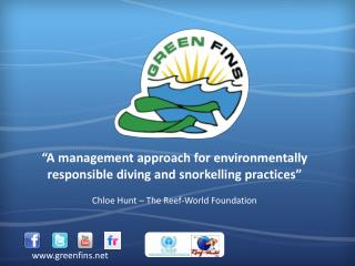 """A management approach for environmentally responsible diving and snorkelling practices"""
