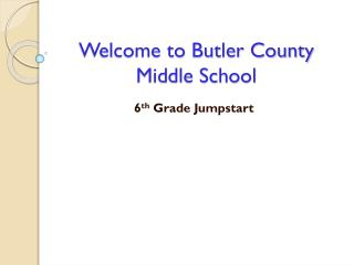 Welcome to Butler County Middle School