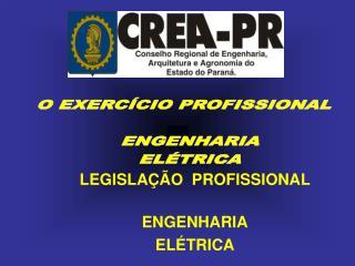 O EXERCÍCIO PROFISSIONAL   ENGENHARIA   ELÉTRICA