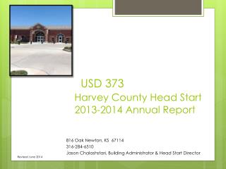 USD 373  Harvey County Head Start                           2013-2014 Annual Report