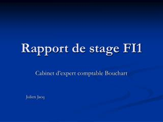 Rapport de stage FI1