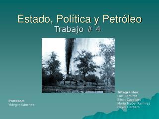 Estado, Política y Petróleo