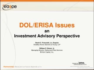 DOL/ERISA Issues
