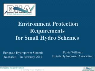 David Williams British Hydropower Association