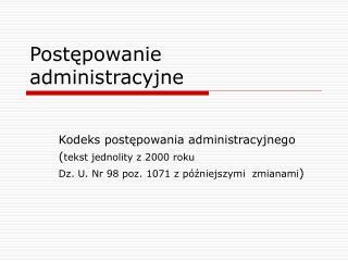 Postepowanie administracyjne