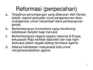 Reformasi (perpecahan )