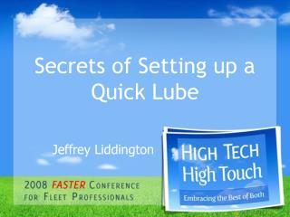 Secrets of Setting up a Quick Lube
