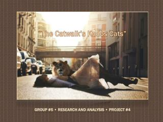 Group #5 • Research and Analysis • Project #4