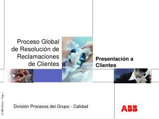 Presentación a Clientes