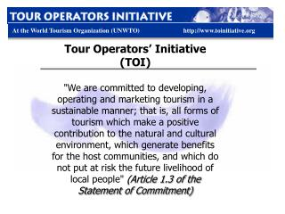 Tour Operators' Initiative (TOI)