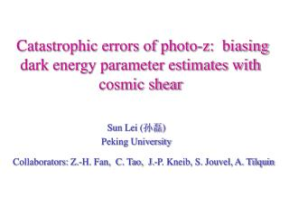 Catastrophic errors of photo-z:  biasing dark energy parameter estimates with cosmic shear