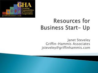 Resources for  Business Start- Up