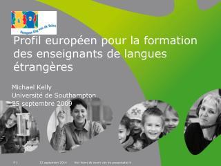 Profil européen pour la formation des enseignants de langues étrangères