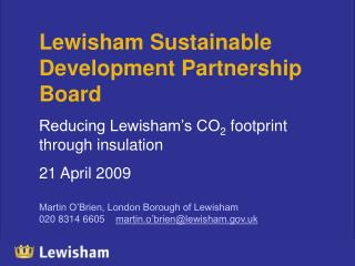 Lewisham Sustainable Development Partnership Board