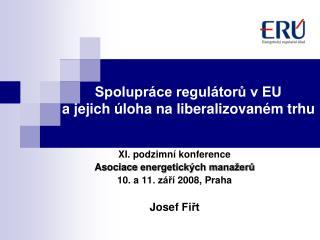 Spolupráce regulátorů v EU a jejich úloha na liberalizovaném trhu