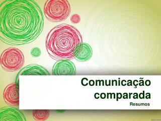 Comunicação comparada