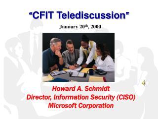 � CFIT Telediscussion �