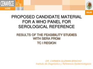 PROPOSED CANDIDATE MATERIAL FOR A WHO PANEL FOR SEROLOGICAL REFERENCE