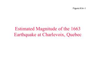 Estimated Magnitude of the 1663 Earthquake at Charlevoix, Quebec
