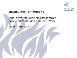 InGRID Kick-off meeting