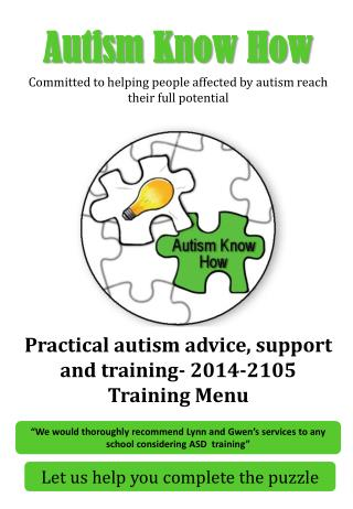 Autism Know How Committed to helping people affected by autism reach their full potential