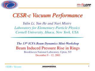 CESR-c Vacuum Performance