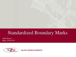Standardized Boundary  M ark s
