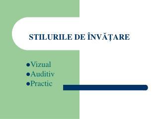 STILURILE DE  � NV ?? ARE