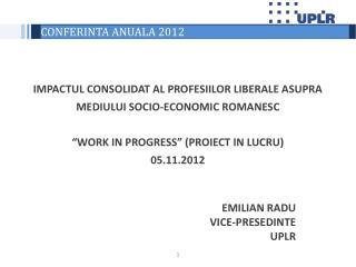 CONFERINTA ANUALA 2012