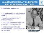 LA ACTIVIDAD F SICA Y EL DEPORTE EN LAS PERSONAS MAYORES