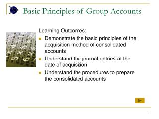 Basic Principles of Group Accounts