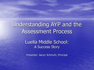 Understanding AYP and the Assessment Process