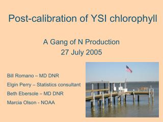 Post-calibration of YSI chlorophyll
