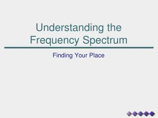 Understanding the  Frequency Spectrum