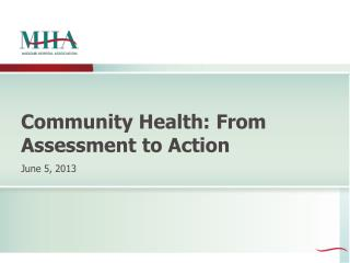 Community Health: From Assessment to Action