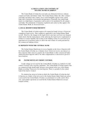 4.2 REGULATION AND CONTROL OF ISLAMIC BANKS IN JORDAN