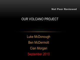 OUR VOLCANO PROJECT