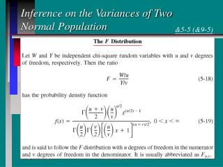 Inference on the Variances of Two Normal Population
