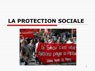 LA PROTECTION SOCIALE