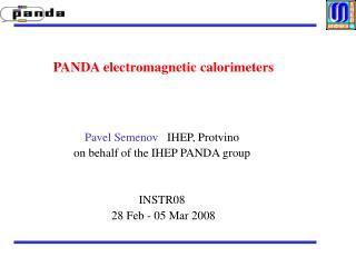 PANDA electromagnetic calorimeters