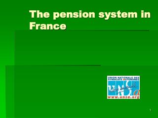 The pension system in France