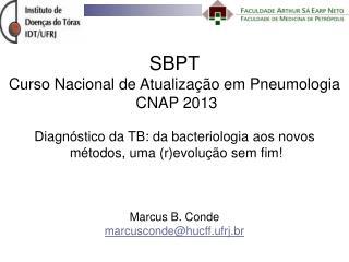 SBPT Curso Nacional de Atualização em Pneumologia   CNAP 2013