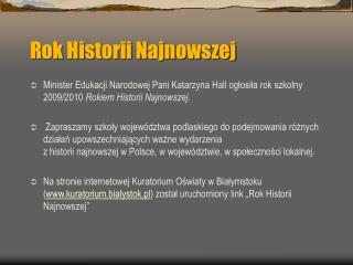 Rok Historii Najnowszej