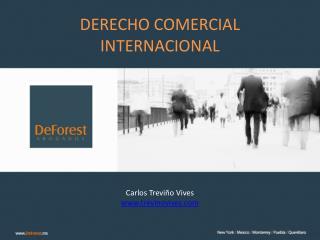 DERECHO COMERCIAL INTERNACIONAL