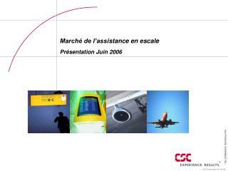 Marché de l'assi stance en escale  Présentation Juin  2006