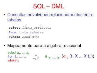 SQL – DML
