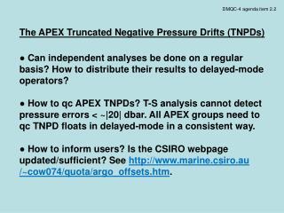 DMQC-4 agenda item 2.2