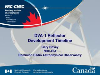 DVA-1 Reflector Development Timeline